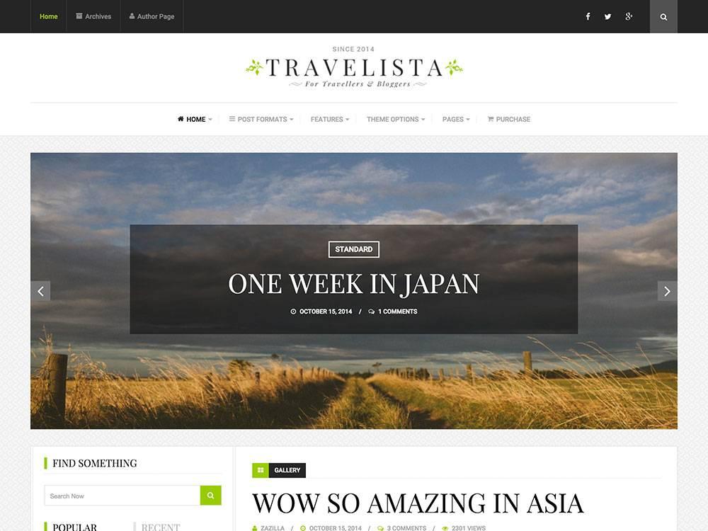 Wordpress Templates Responsive Travel