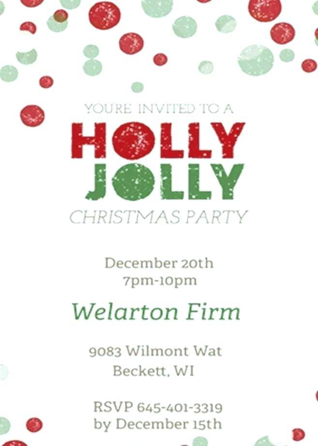 Work Christmas Party Invitation Template