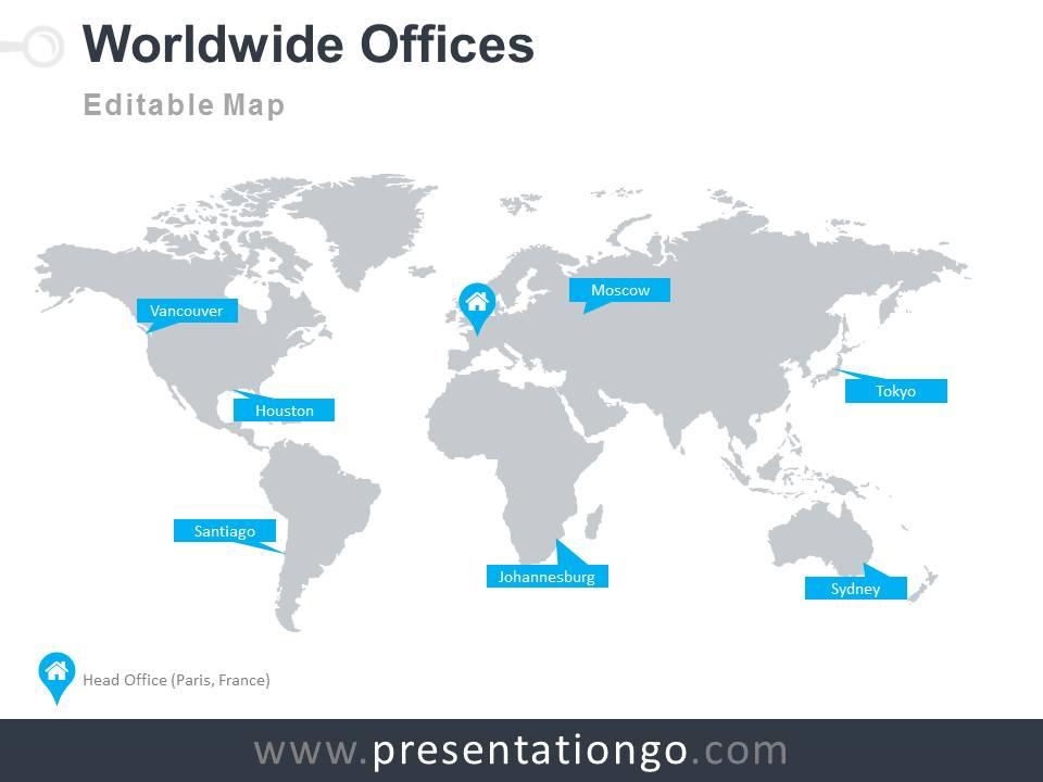 World Map Ppt Templates Presentation