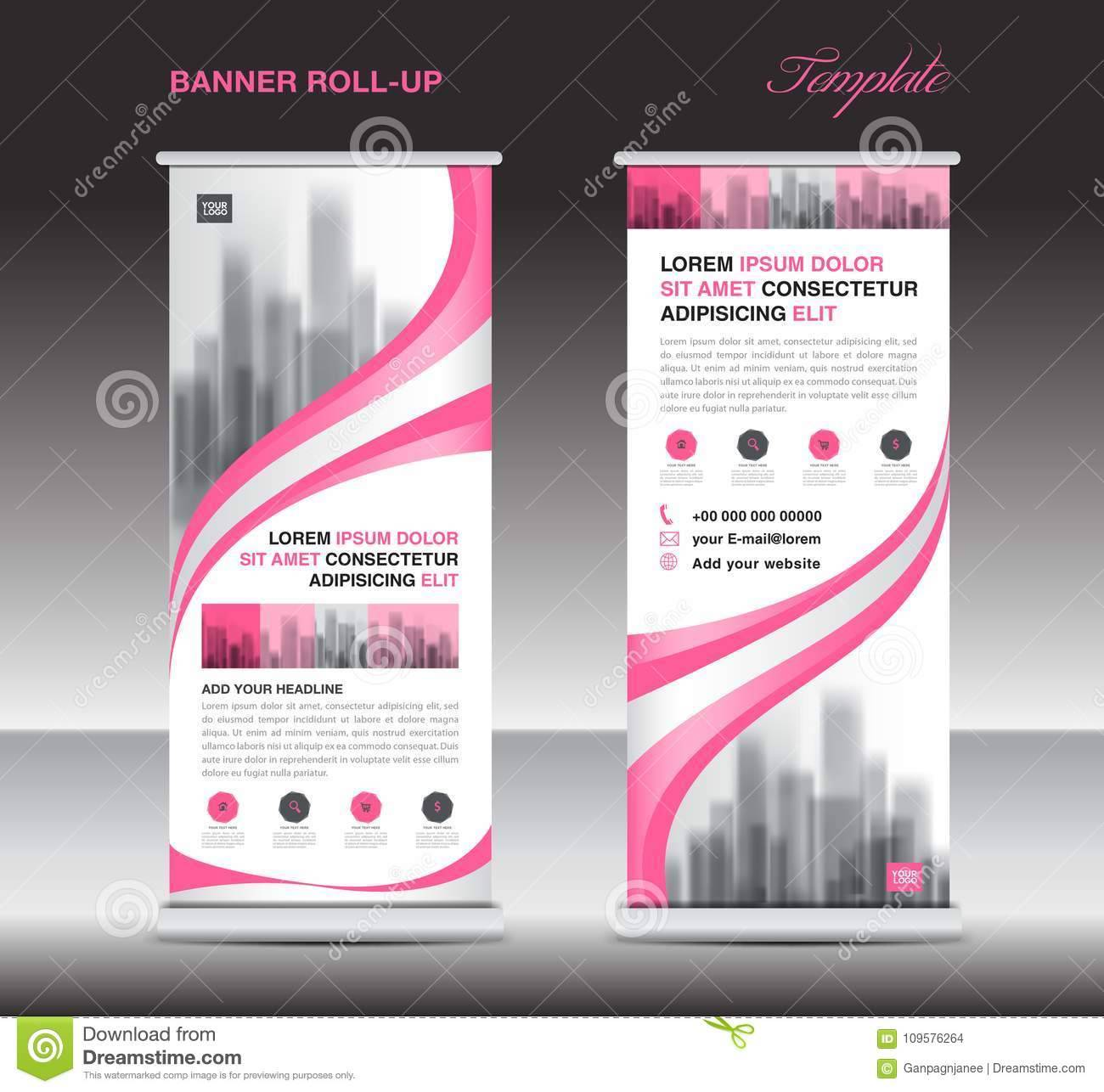 X Banner Stand Template