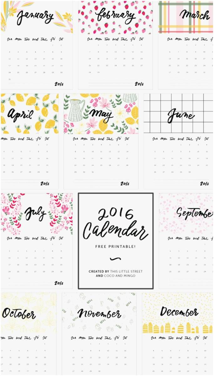 Year At A Glance Calendar Template 2017