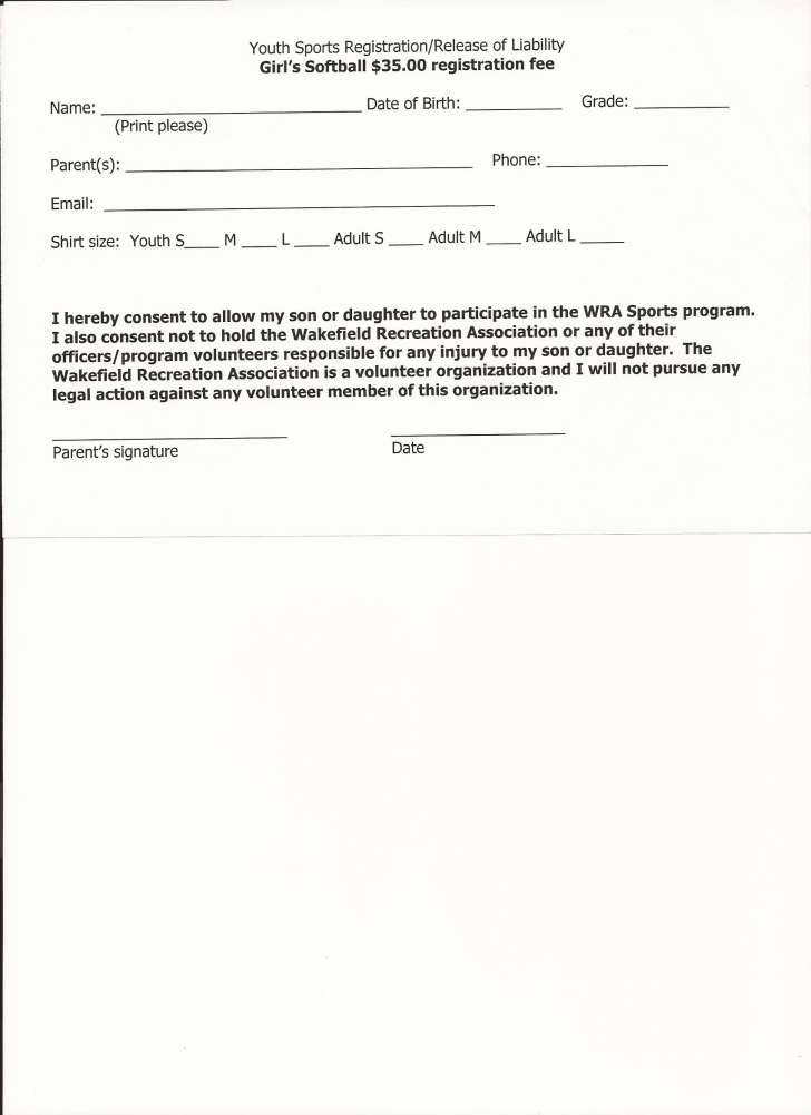 Yoga Liability Waiver Form Template