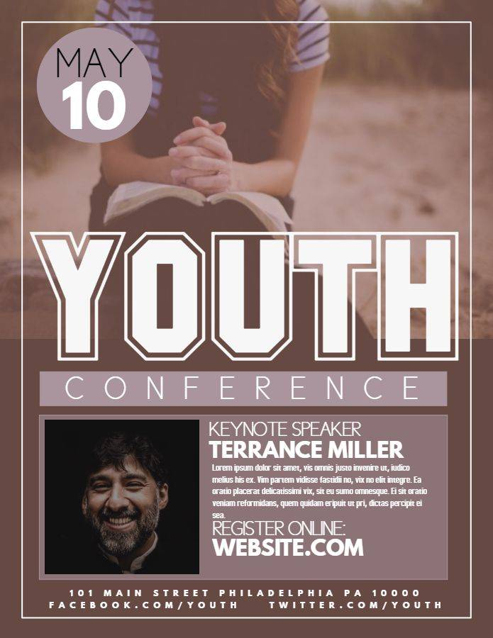 Youth Event Flyer Template
